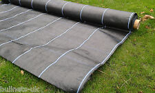 Ground cover membrane Heavy Duty 100gsm weed suppressant 2m x 25m GRID SECTIONS