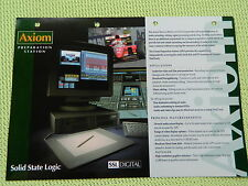 SSL Digital Axiom Preparation Station Pospect Solid State Logic
