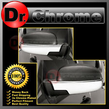 07-13 Chevy Silverado+Avalanche Triple Chrome Lower Half Mirror Cover 1 Pair