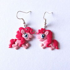 Pinkie Pie My Little Pony Jewellery Pink Horse Animal Kawaii Style Fimo Earrings
