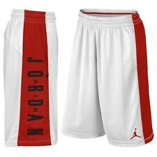 Nike Mens XL Air Jordan AJ highlight basketball shorts WHITE Red 838978 100 NEW