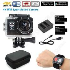 """16MP 4K FHD 1080P 2""""WIFI Sports Action Camera DVR+Remote+Battery+Charger+Case"""