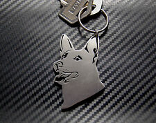 ALSATIAN DOG German Shepherd Keyring Keychain Key Bespoke Stainless Steel Gift