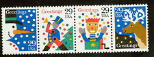 2791-4 Christmas Greetings Strip Of 4 Mint/nh (Free shipping offer)