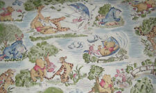 Winnie the Pooh Fabric  Fly Kite Windy Day -  100% collon - FQ