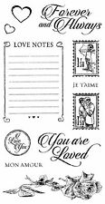 Graphic45 Cling Stamps-MON AMOUR #2 scrapbooking Set of (11) VINTAGE ROMANCE