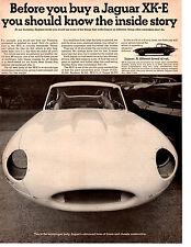 1967 JAGUAR XKE / XK-E   ~  CLASSIC ORIGINAL PRINT AD