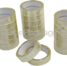 "12 Rolls Clear Packing Tape 25mm 1"" Sellotape Cellotape"