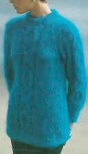 "1432 Ladies Mohair Cable OXO Sweater Vintage Knitting Pattern 32-40"" 81-102cm"