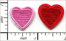 "40 Pcs Embroidered Iron on Mini patch Love Heart 0.75""x0.75"" AP015eA"