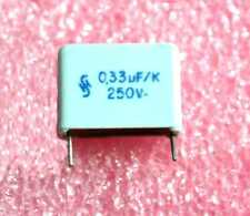 Siemens 0.33uF, 250VDC Polyester Capacitor - Lot of 10 (28P282)