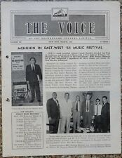 India THE VOICE March 1964 HMV Magazine - Yehudi Menuhin