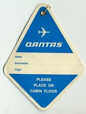 QANTAS AIRLINES ~AUSTRALIA~ Old Cabin Baggage Luggage Tag, c. 1970