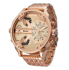 Oulm men's watch, Mr. Daddy 2.0 DZ7333 Gold Ion-Plated Stainless Steel