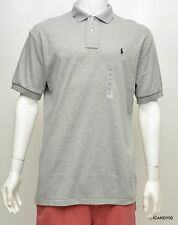 Nwt Ralph Lauren Soft Cotton Polo Pony Logo Shirt T-Shirt Top Heather Gray M