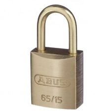ABUS 65/15 Security Padlock 6515 Brass 15mm Body Keyed To Differ