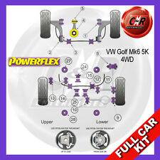 VW Golf Mk6 4WD 09-12 Powerflex Full Bush Kit Frt Wishbone Frt Bushes Camber Adj