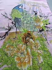 PEACOCK SCARF ~ PINK 100% POLYESTER