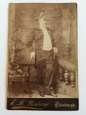 Large Victorian Cabinet Card Photo - Rare Scottish Military Uniform Medals