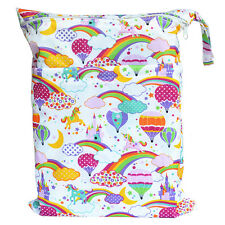 Hot Air Balloon Wet Dry Bag Baby Cloth Diaper Nappy Bag Reusable With Two Pocket