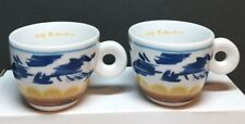 iLLY ART COLLECTION Espresso Cups (set of 2) by SIMONE MEENTZEN (1995) NEW Rare