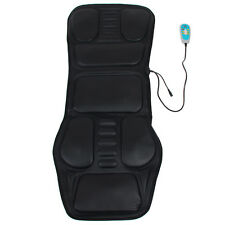 Back Heated Seat Massager Chair Full Body Car Home Office Slimming Cushion Black
