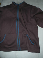 Junonia chocolate brown stretch knit full zipper jacket size 1X long sleeved