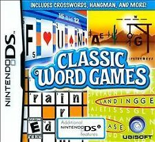 CLASSIC WORD GAMES Nintendo DS video game COMPLETE