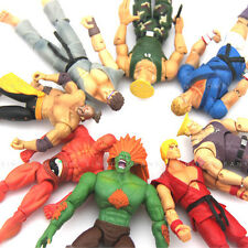 Promotion Lot 8pcs JAZWARES STREET FIGHTER Collection 4.0In. action figure Toy