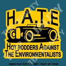 HATE HOT ROD DECAL STICKER RETRO OLD SCHOOL RAT ROD RACING DECALS STICKERS
