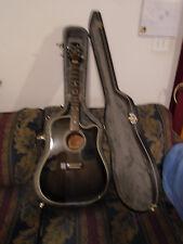 Takamine EF361EC Acoustic/Electric Guitar with nice plush hardshell case.