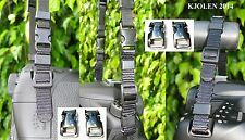 "METAL 3/8"" BUCKLE FOR QUICK RELEASE CAMERA STRAP BELT CANON NIKON SONY PARACORD"
