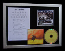 SUPERTRAMP Give A Little Bit QUALITY MUSIC CD FRAMED DISPLAY+EXPRESS GLOBAL SHIP