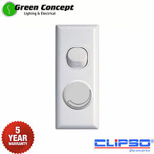 Universal Dimmer Light Switch White Architrave 450W 5 YEAR WARRANTY Suits LED