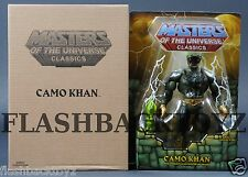 2016 MOTU Power-Con Camo Khan MOTUC Masters of the Universe Classics MOC