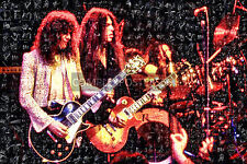 LARGE UNIQUE ORIGINAL MOSAIC PHOTO POSTER IN COLOUR OF THIN LIZZY No 7