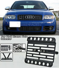 For 2004-2006 Audi S4 B6 Front Bumper Tow Hook License Plate Bracket Mount
