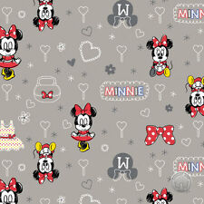 161026171 - Minnie Mouse Zinc Camelot Disney Hearts Fabric by the Yard