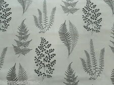 Sanderson Curtain Fabric ANGEL FERNS 5.55m Charcoal Cotton Leaf  Design 555cm