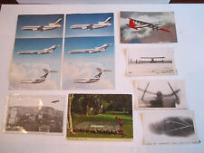 LOT OF LINDBERGH, NAVAL PLANES, GOODYEAR POSTCARDS, PHOTOS AND MORE - TUB RR