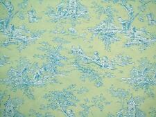 P Kaufmann CENTRAL PARK LIME Old World Cotton Toile Drapery Upholstery Fabric