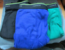 "Three (3) ""Hanes"" 100% Cotton Comfort Flex Men's Colored Boxer Briefs 2XLarge"
