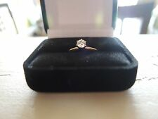 DIAMOND ENGAGEMENT RING 1/3 CARAT SOLITAIRE 14K YELLOW GOLD SIZE 5-1/2