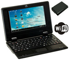 "BRAND NEW 7"" NETBOOK MINI LAPTOP WIFI ANDROID 4GB NOTEBOOK PC UK STOCK BLACK"