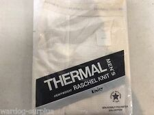 HANES THERMAL MENS OFF-WHITE ECRU WAFFLE LONG JOHNS UNDERWEAR PANTS SZ. MEDIUM
