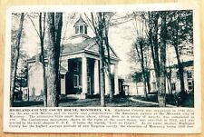 1920s MONTEREY, VA, HIGHLAND COUNTY COURT HOUSE POSTCARD, SHENANDOAH VALLEY, SPH