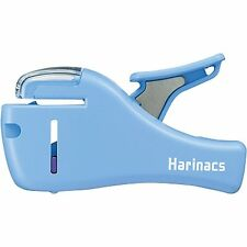 New Kokuyo Harinacs Stapleless Stapler Compact SLN-MSH205 Blue 5 papers