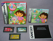 LOT: 3 Dora the Explorer GBA Games (Nintendo Game Boy Advance)