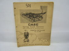 Pair of early Case Parts Catalogs: Em Master Frame & Spring Toothed Harrows