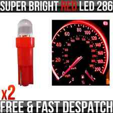 12v 1.2w T5 5mm Super Bright Red LED Wedge Car Dashboard & Speedo Bulbs 286 x 2